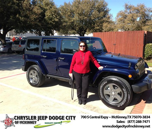 Congratulations to Karen Baumgardner on the 2013 Jeep Wrangler by Dodge City McKinney Texas
