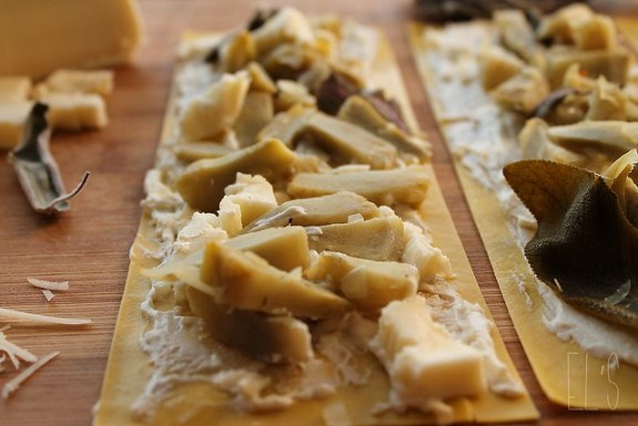 Lasagnes roulées à l'artichaut, ricotta