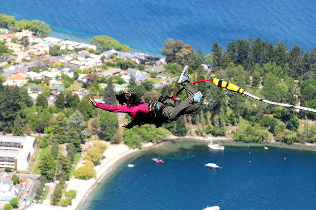 Photo Courtesy of The Ledge Bungy Queenstown | Day 4 New Zealand Sweet as South Contiki Tour | A Guide to South Island