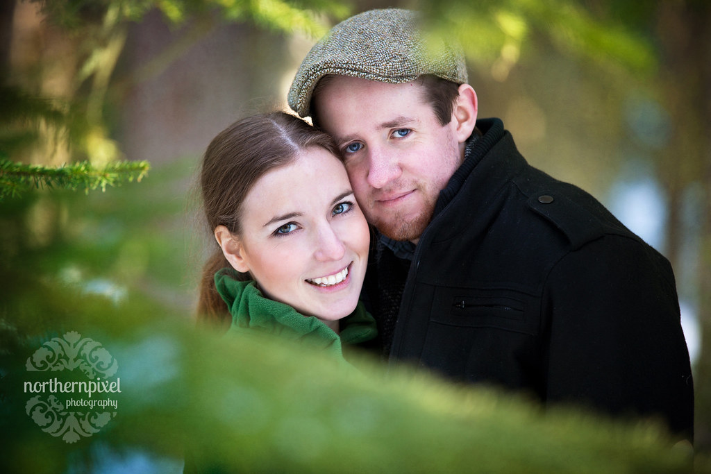 Winter Engagement Session Portrait Prince George British Columbia