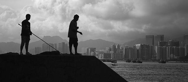 Fishing, typhoon shelter, Shau Kei Wan, Lei Yue Mun, Hong Kong, fotoeins.com