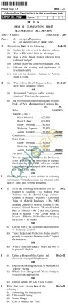UPTU MBA Question Papers - MBA-211-Management Accounting