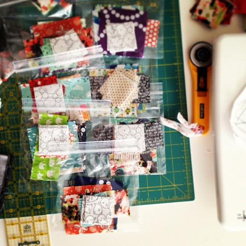 Bagging pieces for my x+ blocks.