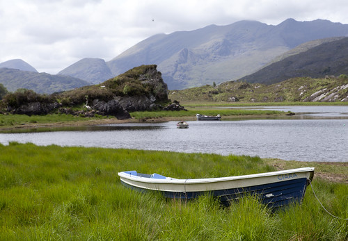 Ring of Kerry, lake, boat, Ireland.
