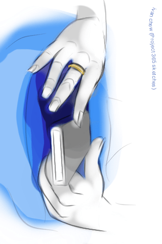 """Lady's Fingers"" (#51: Project 365 Sketches)"