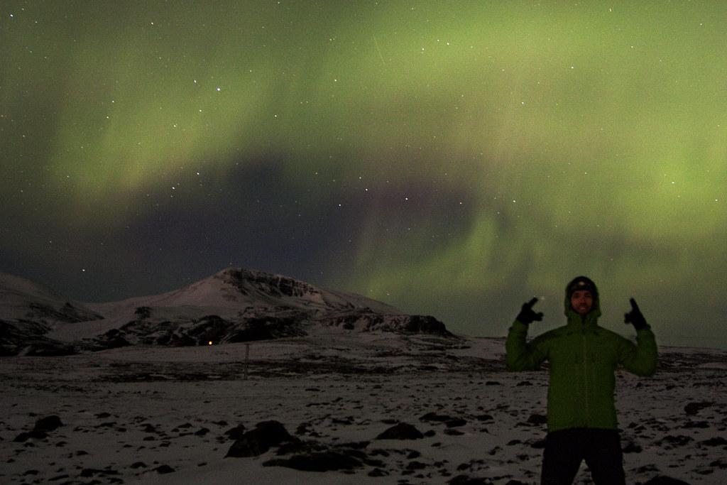 Andy Rocking Out to Aurora Borealis
