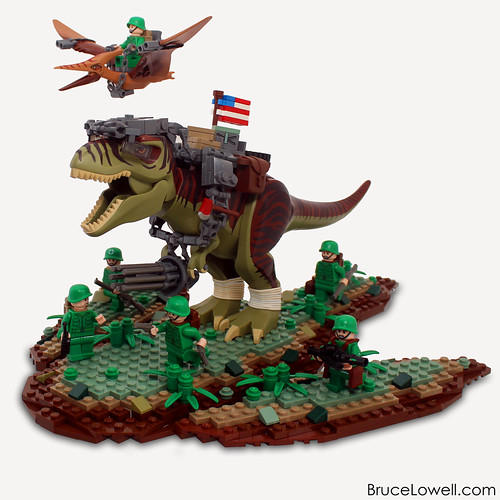 Sammy america 39 s fighting dinosaur the brothers brick - Lego dinosaurs spinosaurus ...