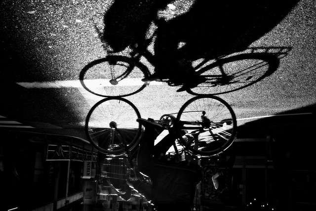as easy as riding your bicycle upside down in a city of 15 million people [explore]