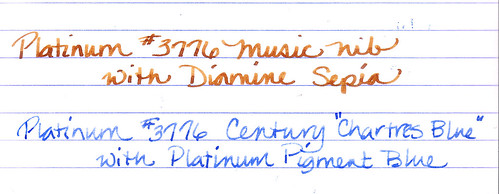 Platinum Broad and Music Nibs