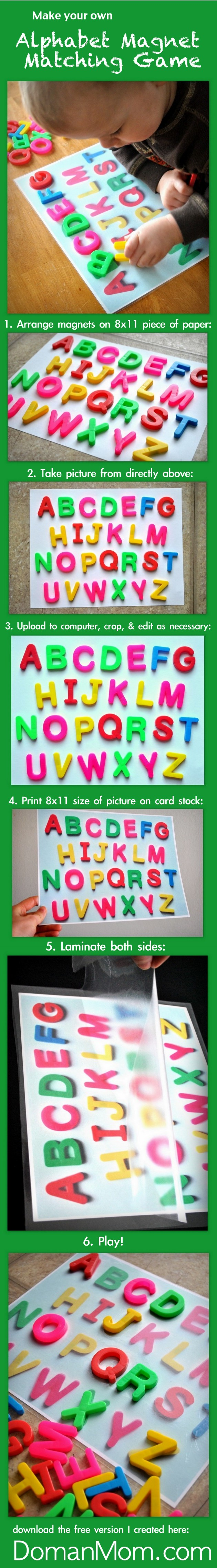 Make Your Own Alphabet Matching Game