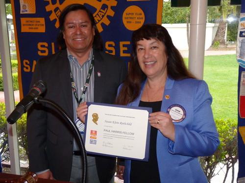 Susan Proudly Displays PHF Certificate
