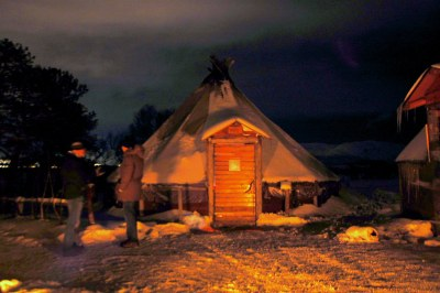 A traditional Sami tent