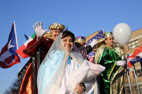 The Virgin Mary at Three Kings' Day Parade