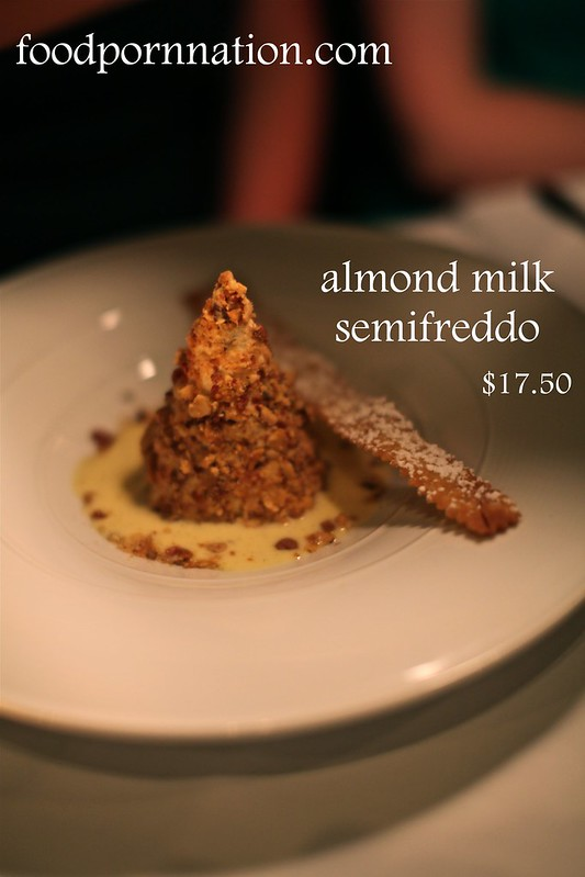 almond milk semifreddo