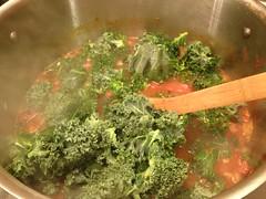 kale wilts down