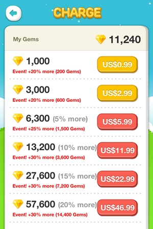 how to get gems on line play