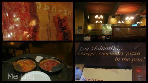 pizza at Lou Malnati's
