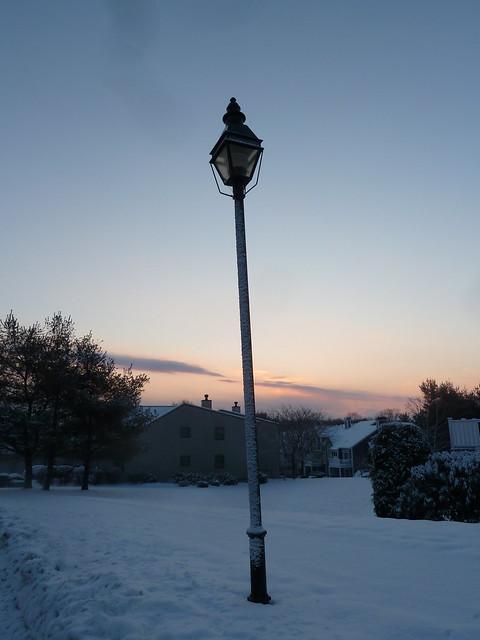 Lamppost at sunrise