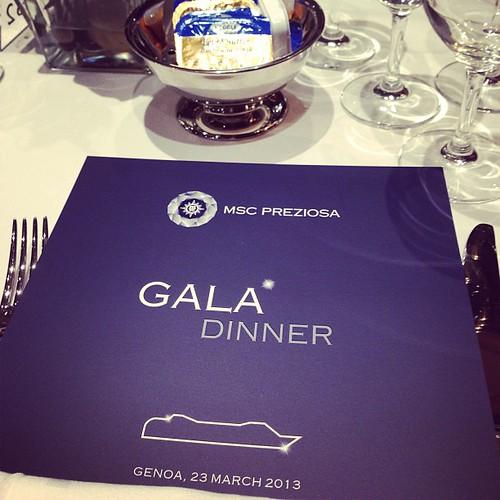 Had an Incredible Italian gala dinner on-board #mscpreziosa last night.