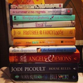 Today's Half Price Books book haul.