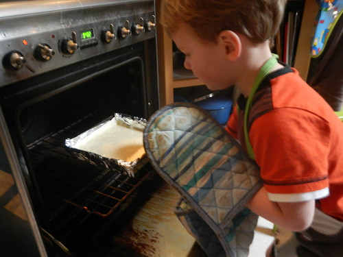 Cooking Day - oven gloves on