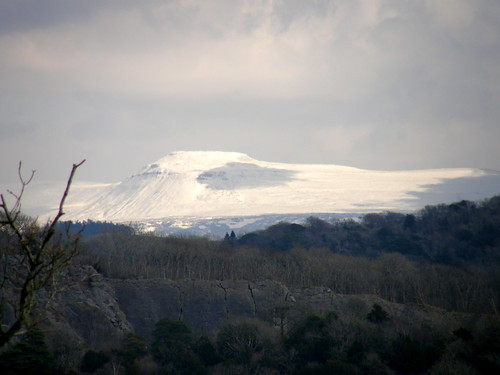 Trowbarrow Quarry and Ingleborough