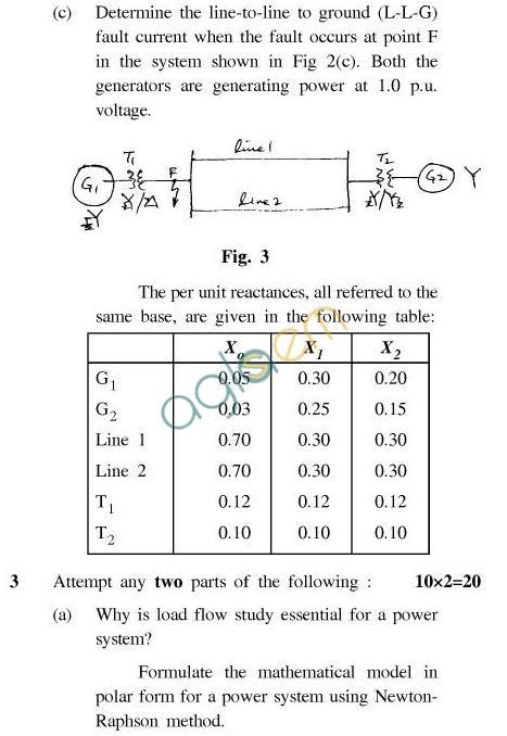 UPTU B.Tech Question Papers - EN-601-Power System Analysis