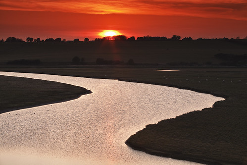 Cuckmere Haven Sunset by JamboEastbourne