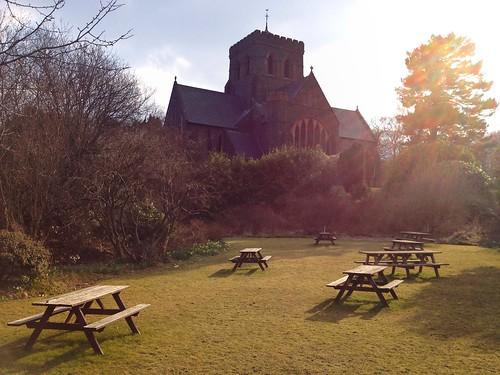 Beer garden, Llanberis, Wales