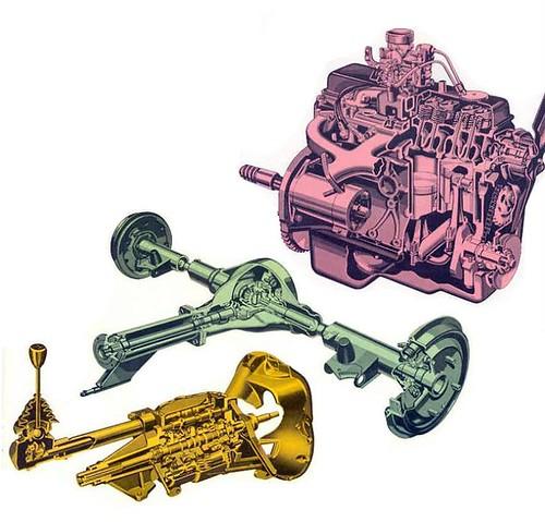 Enovy Epic / Vauxhall Viva HA - Mechanical component cutaways