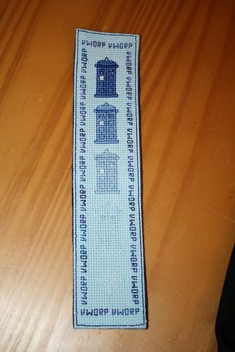 Disappearing TARDIS bookmark