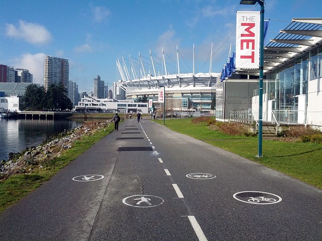 Walking and Cycling on the Seawall