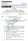 UPTU: B.Tech Question Papers -TBE-602 - Biotechnology of Waste Treatment