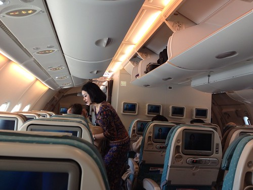 Singapore Airlines before take off from LA