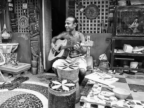 Willy - The Guitarist - Kotachiwadi (Mumbai) by Indro Images