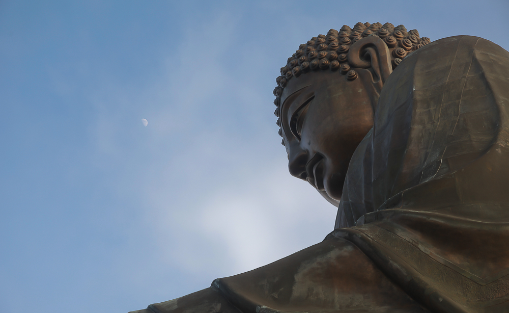 Moon Over Buddha