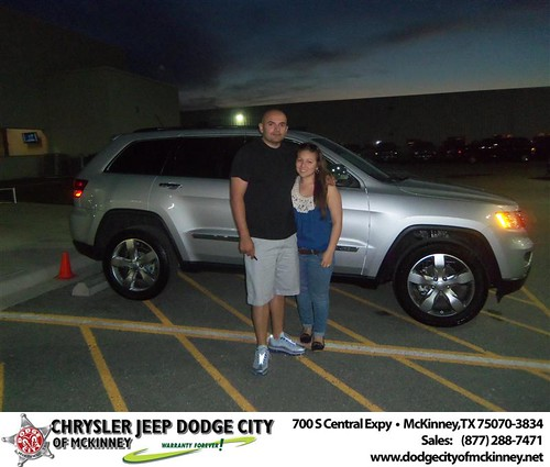 Dodge City of McKinney would like to say Congratulations to Manuel Castro on the 2013 Jeep Grand Cherokee by Dodge City McKinney Texas