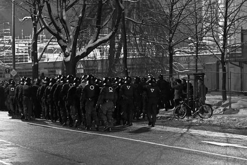 13 februar 2013 Blockade  Parkstraße Einsatzzug