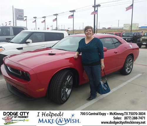 Congratulations to Mandy Bacco on the 2013 Dodge Challenger by Dodge City McKinney Texas