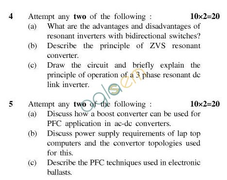 UPTU B.Tech Question Papers - EE-032-Switch Mode & Resonant Converters