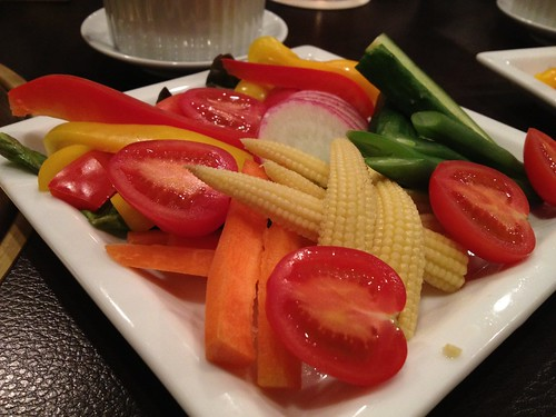 バーニャカウダー。唯一の野菜かも。@格之進R