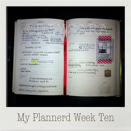 My Plannerd Week Ten