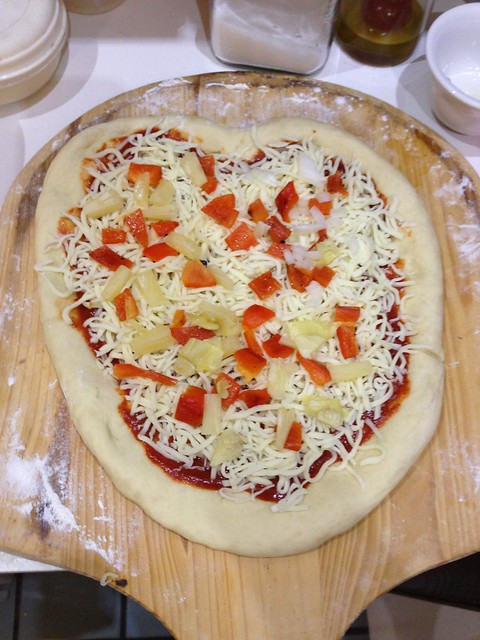 Heart Shaped Pizza–precooking