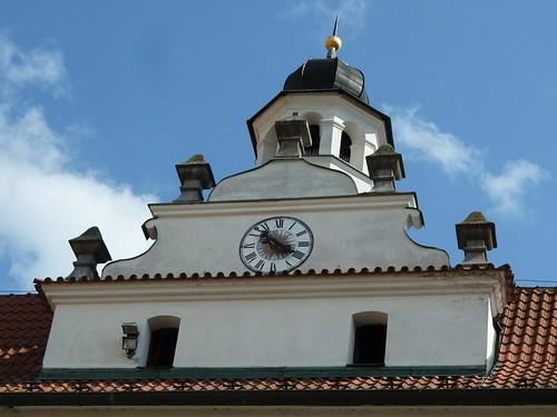 Cesky Krumlov, Czech Republic, Building with Clock