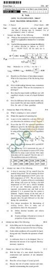UPTU B.Tech Question Papers - CH-607 - Mass Transfer Operations-II
