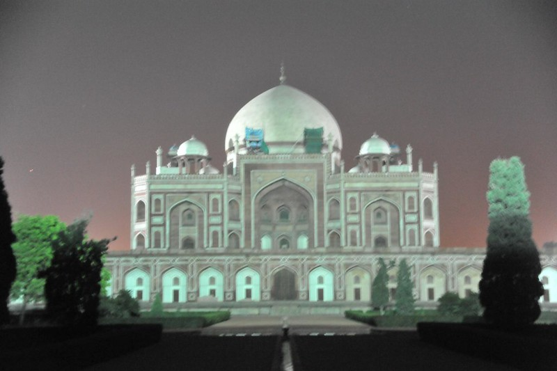 Moon-drenched Humayun's Tomb