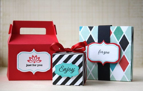 Clear & Simple favor boxes
