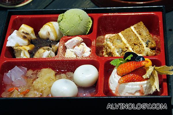 Dolce Tokyo's signature Dessert Bento