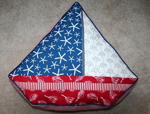 Sailboat Pillow Front