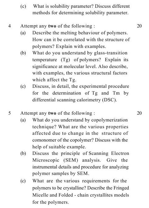 UPTU B.Tech Question Papers -TPL-602- Characterization of Polymers